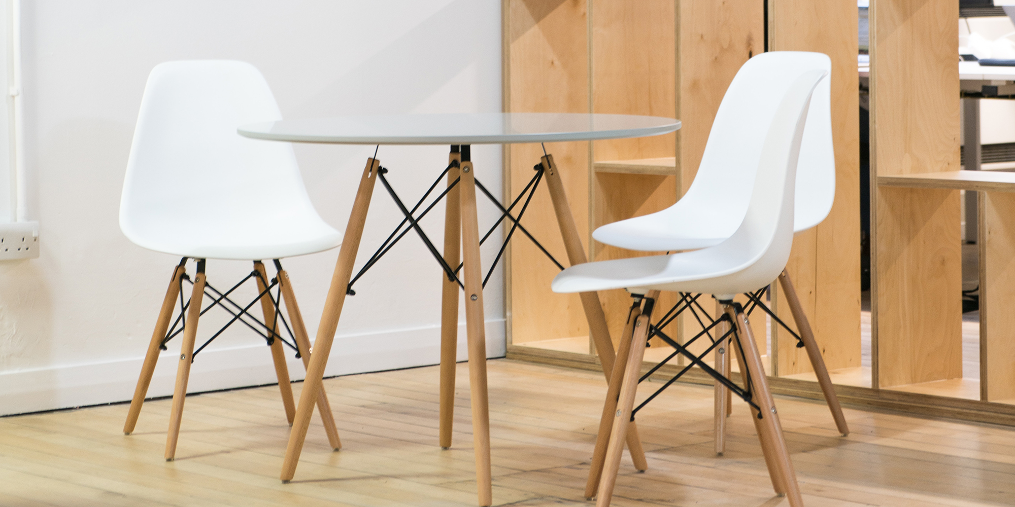 Eames DSW Inspired Chairs and Table