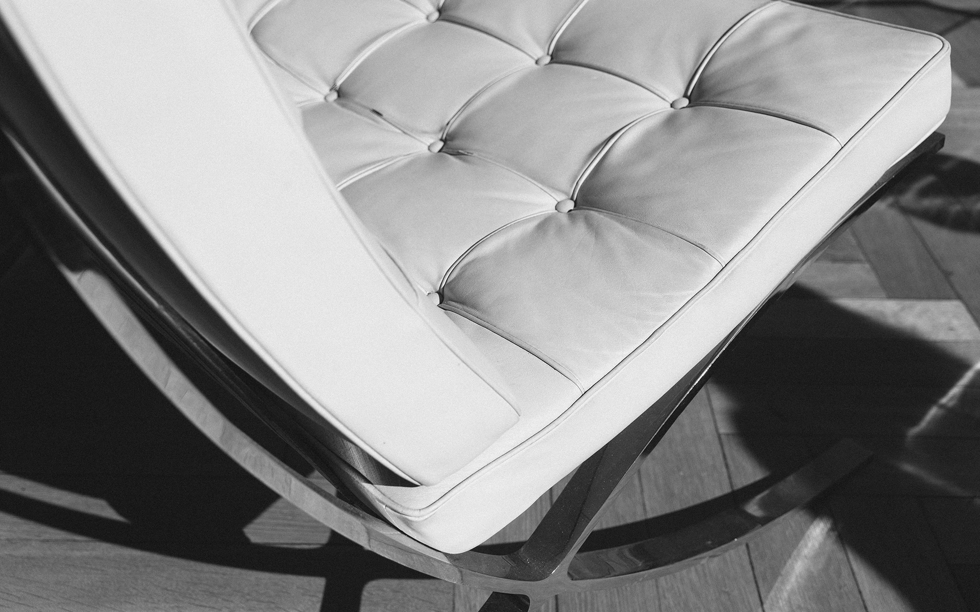 Ludwig Mies Van Der Rohe Barcelona Chair Close View