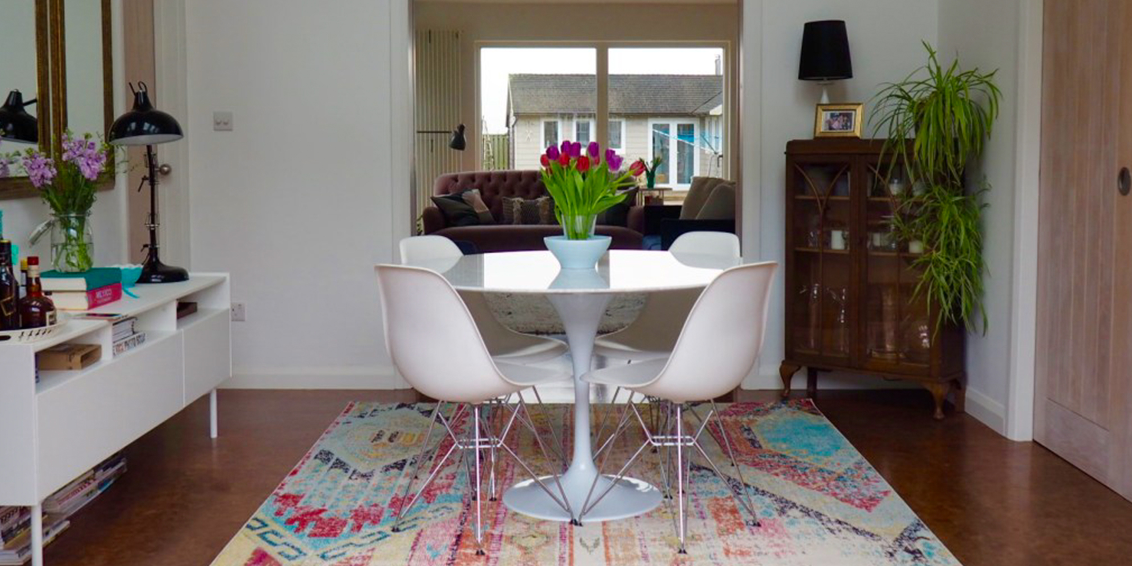 Eero Saarinen's Tulip Table design used in our customers home