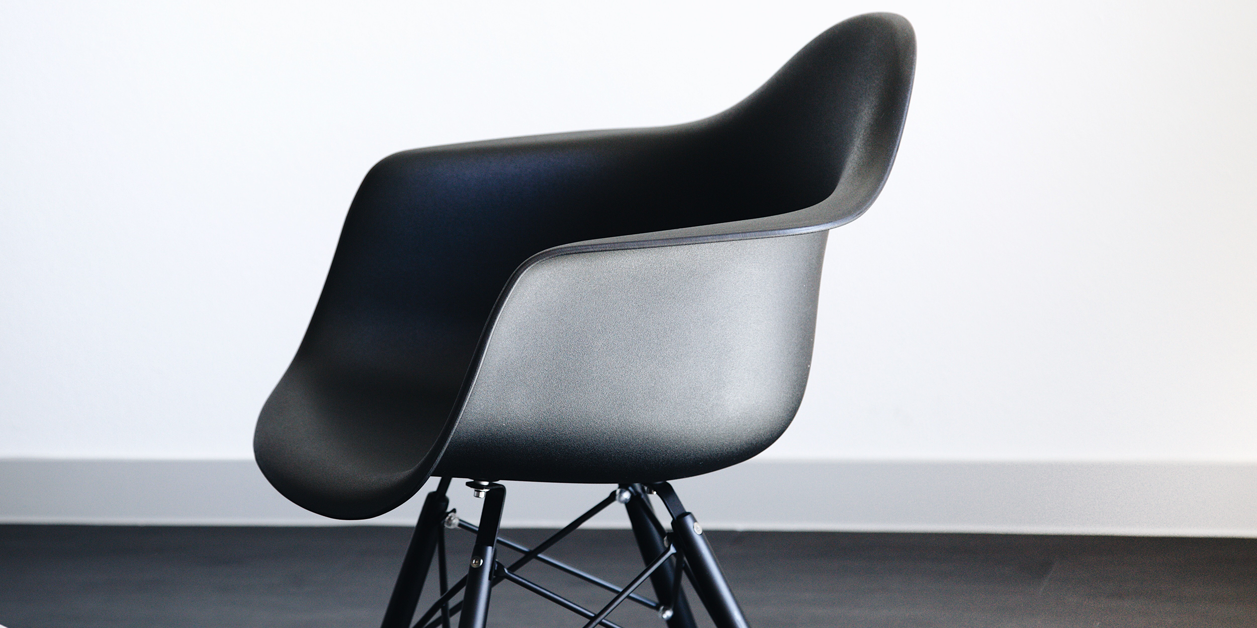 Eames All Black DAW Chair