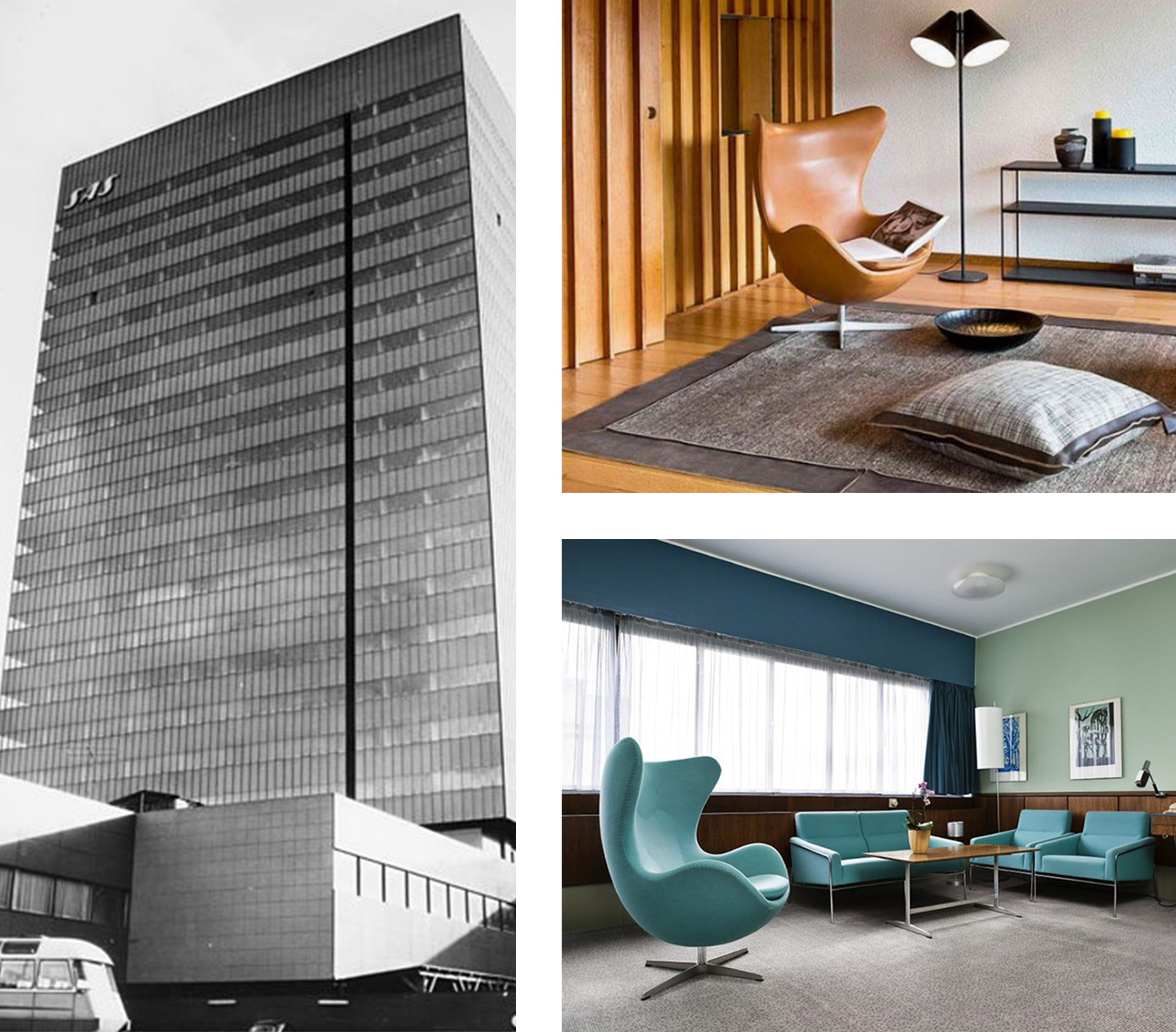 Arne Jacobsen Hotel & Egg Chair Designs