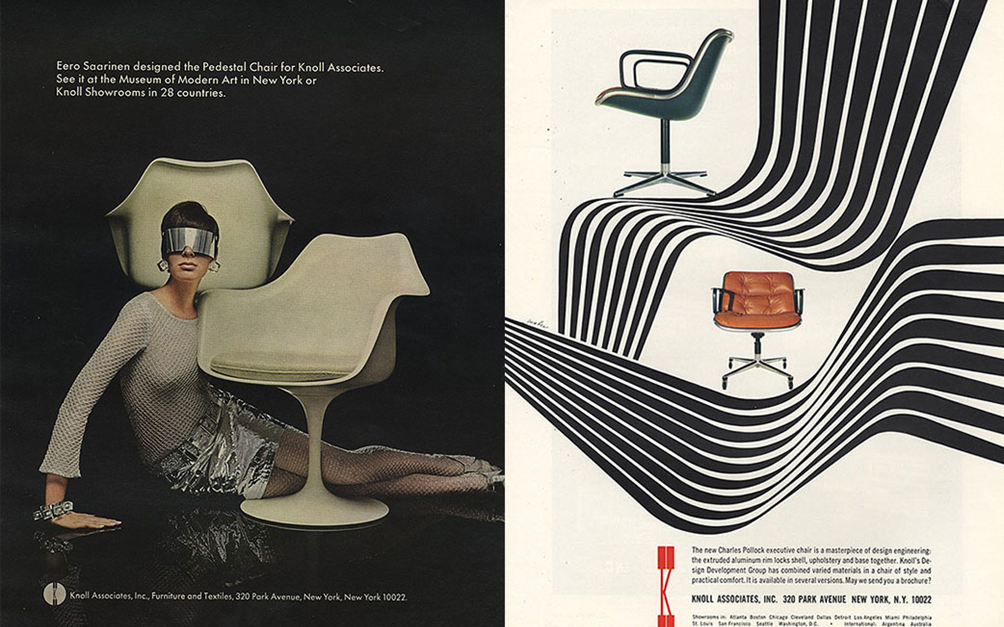 Mid-Century Ads Featuring Tulip Chairs