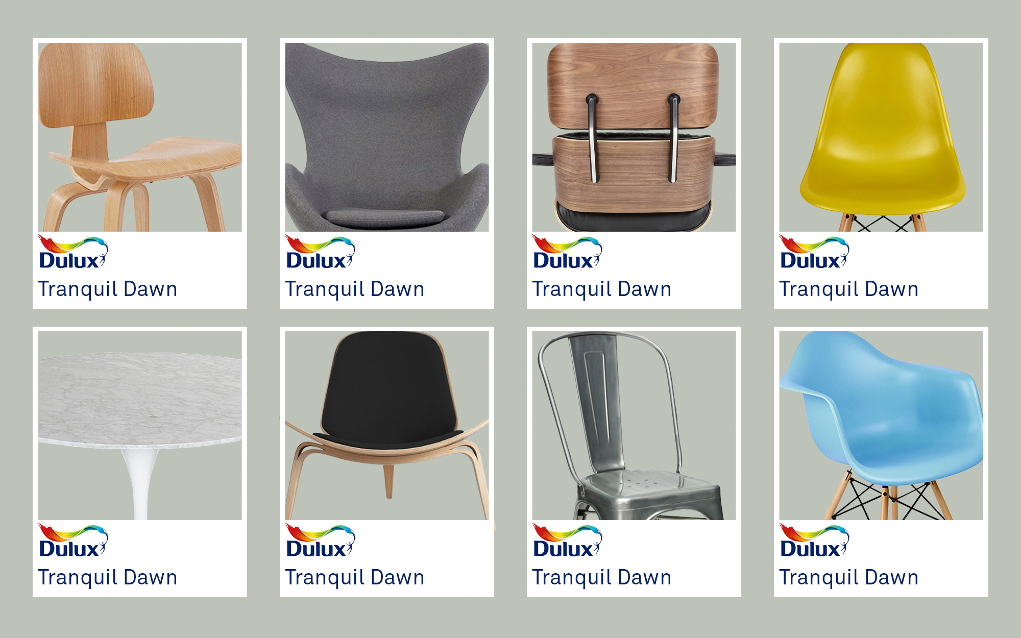 Dulux Tranquil Dawn Complemented With Pash Products
