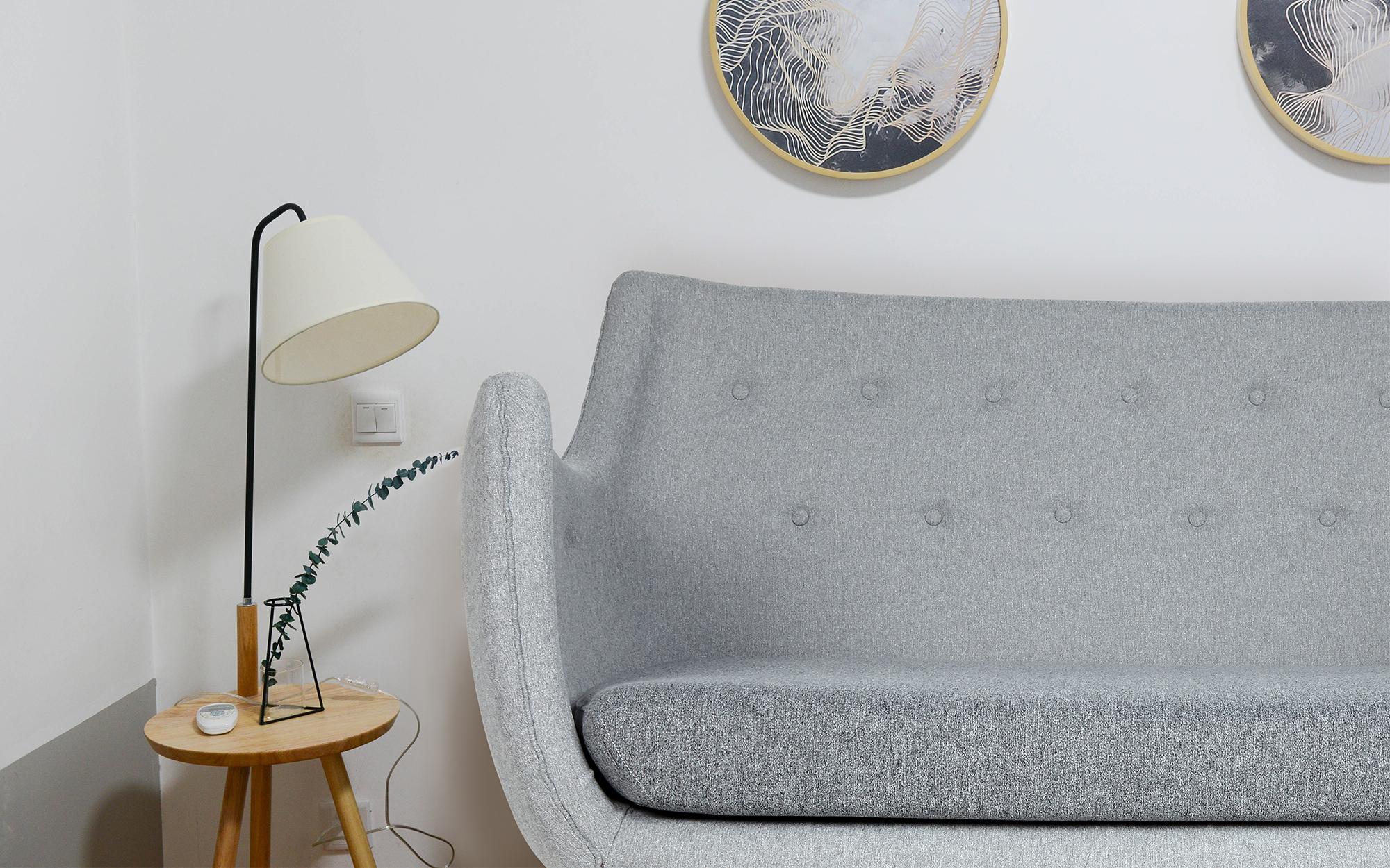 Finn Juhl Poet Sofa in a Scandi Inspired Living Room