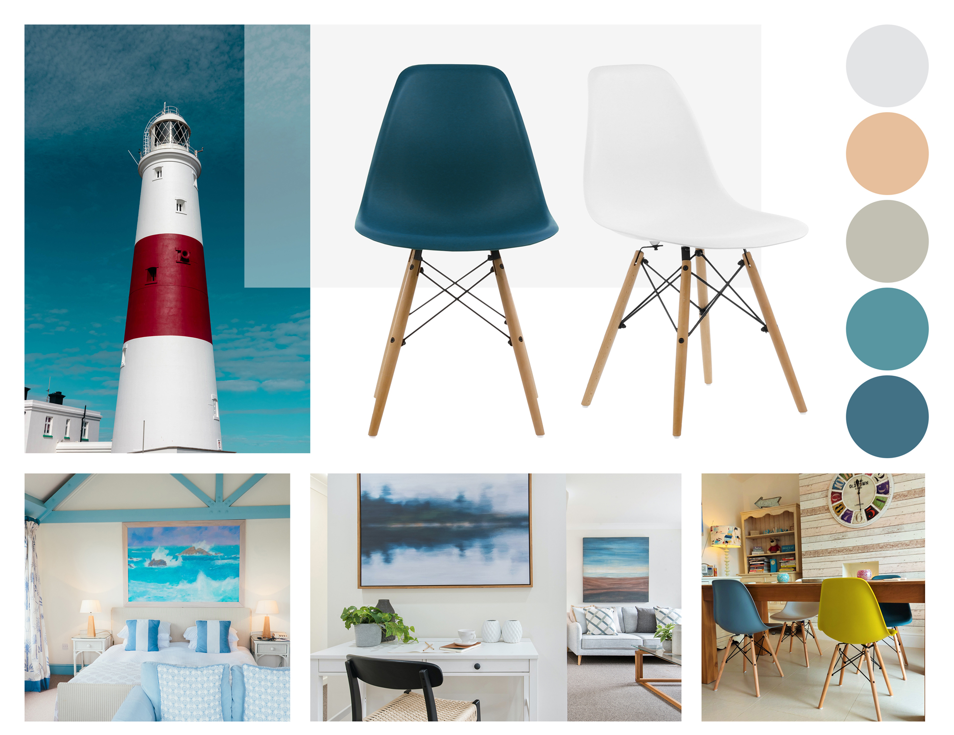 Eames Eiffel Chairs Used In Coastal Homes