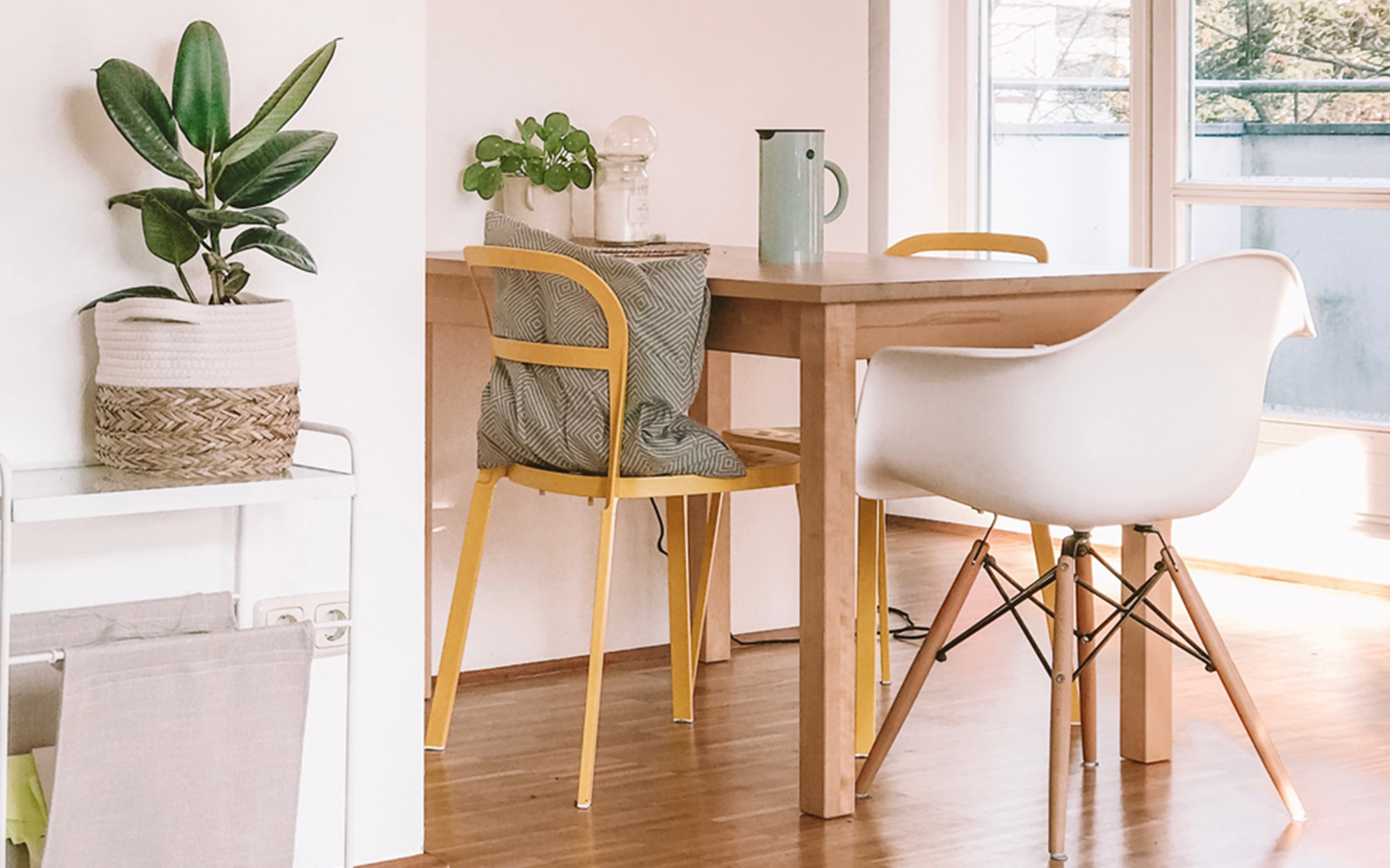 Eames DAW Chair in Scandi Inspired Interior