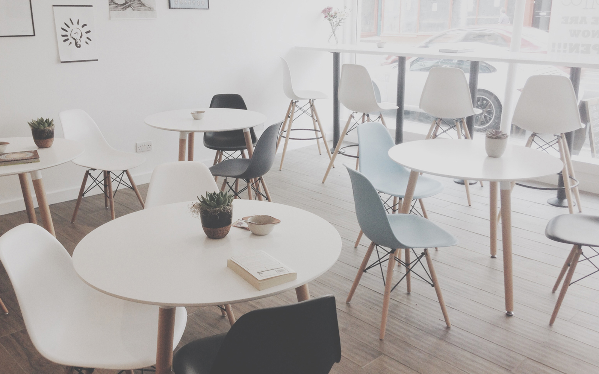 Eames DSW Chairs used in cafe business