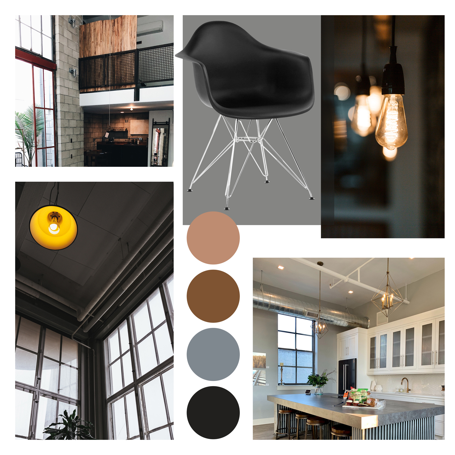 Eames Eiffel Chairs Used In Industrial Homes