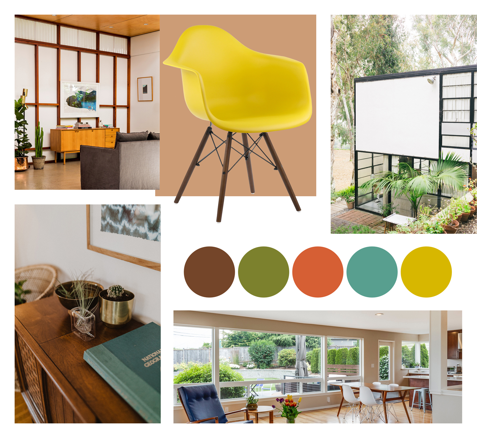 Eames Eiffel Chairs Used In Mid-Century Modern Homes