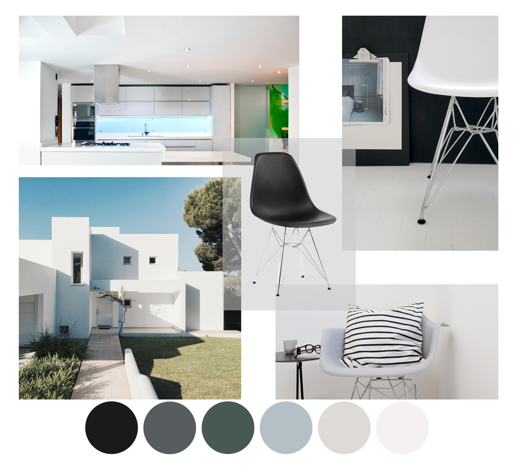 Eames Eiffel Chairs Used In Minimal Homes