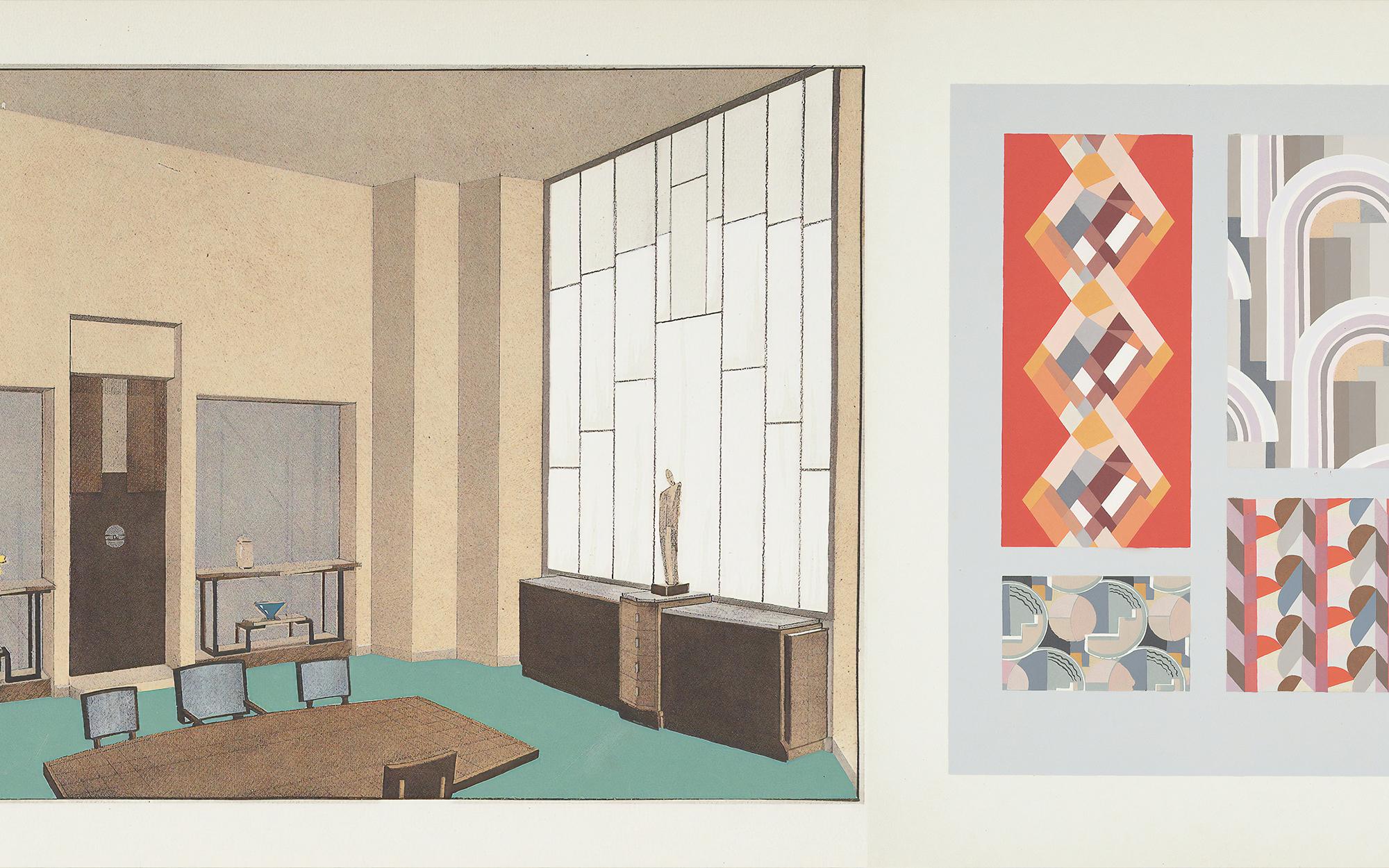 Art Deco Interior Diagram