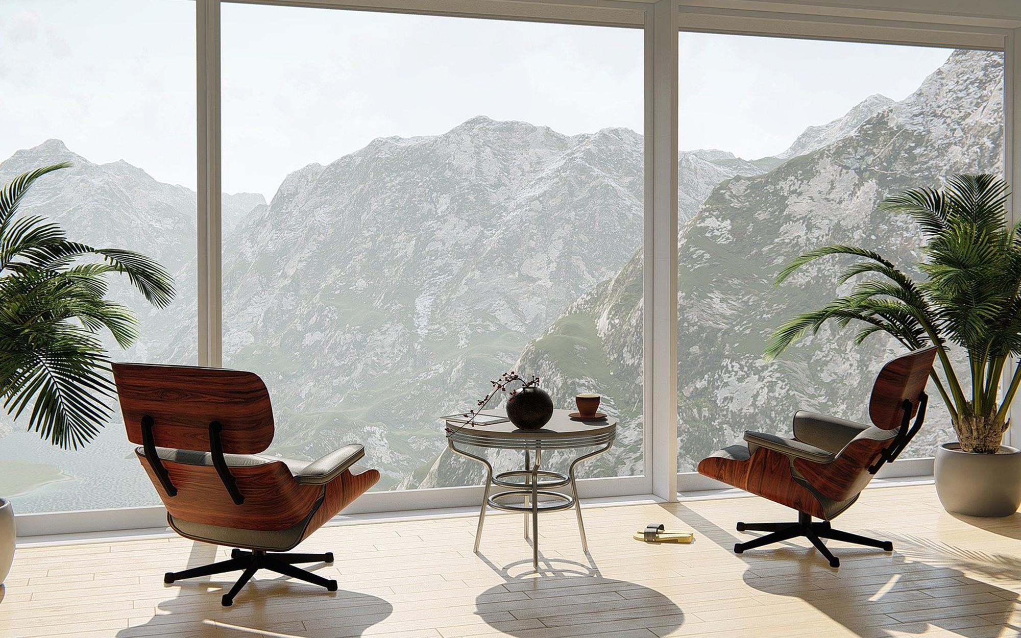 Eames Lounge Chair in a Mid-Century Modern Home