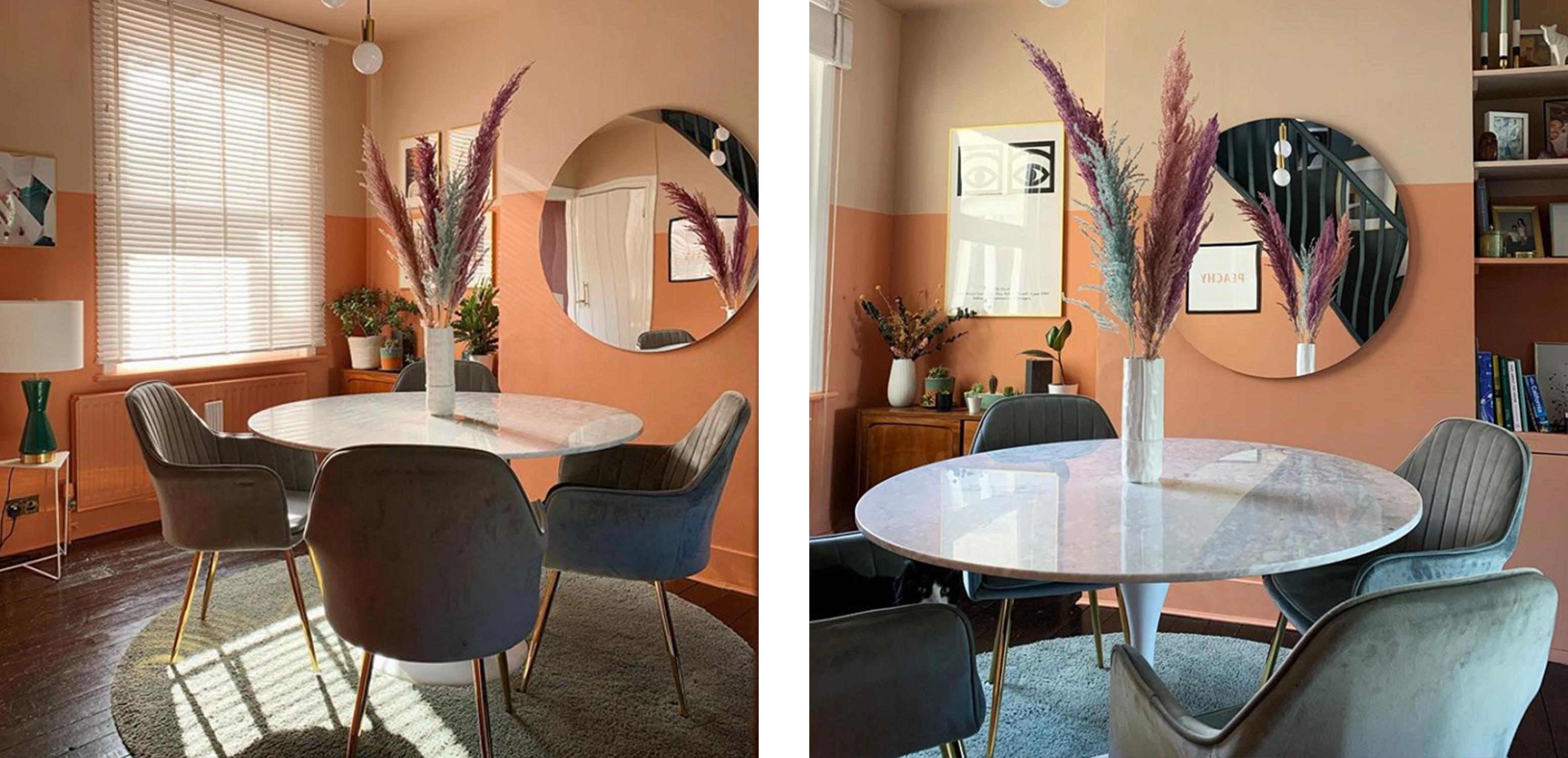 Dining Room Design Featuring Tulip Tables