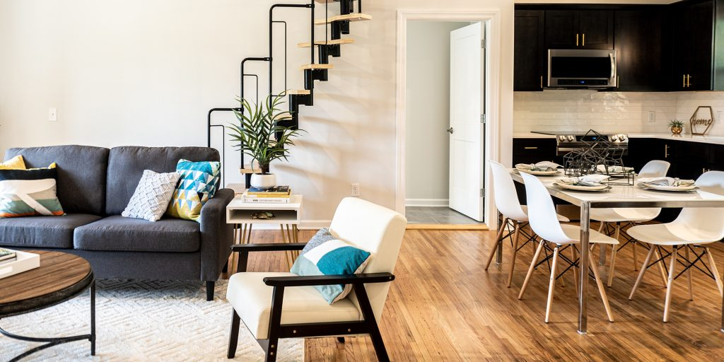 Dining & Living Space Featuring DSW Chairs